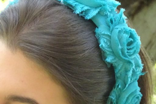 diadema flores turquesa