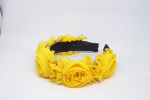 diadema flores amarilla